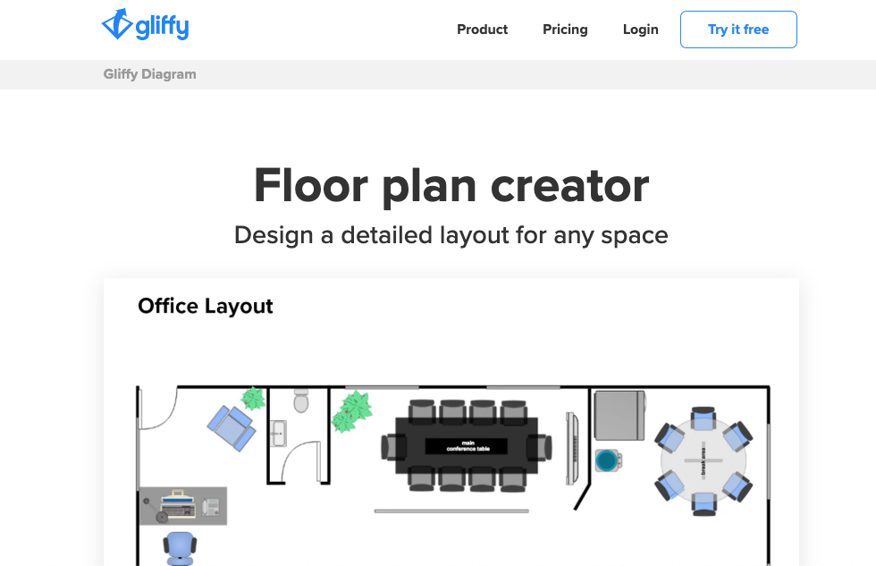 Office Planning Tools: Gliffy