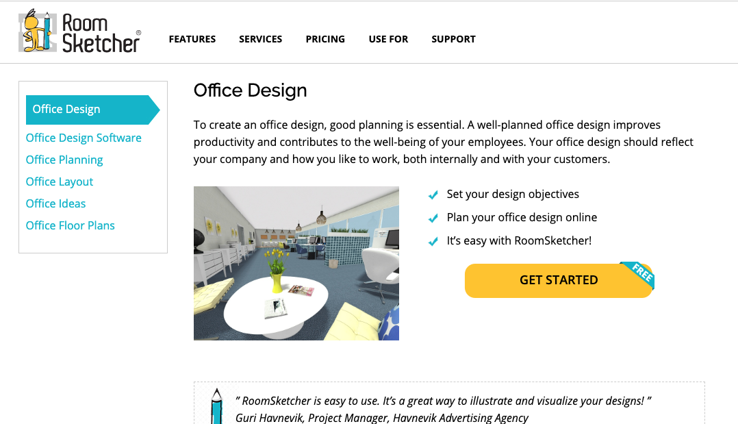 Office Planning Tools: RoomSketcher