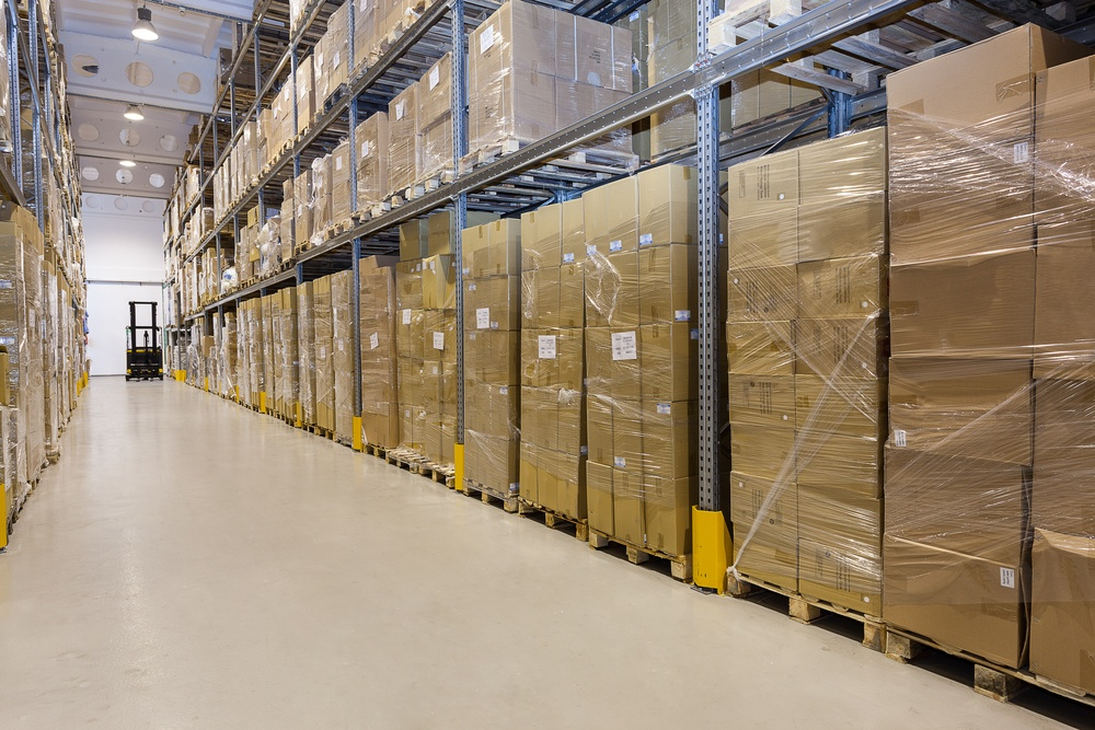 Metal stillage in a warehouse with cartons.jpeg