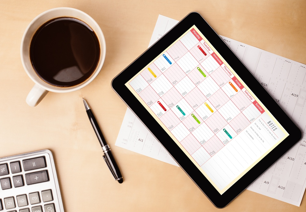 Creating a work schedule when you work at home.