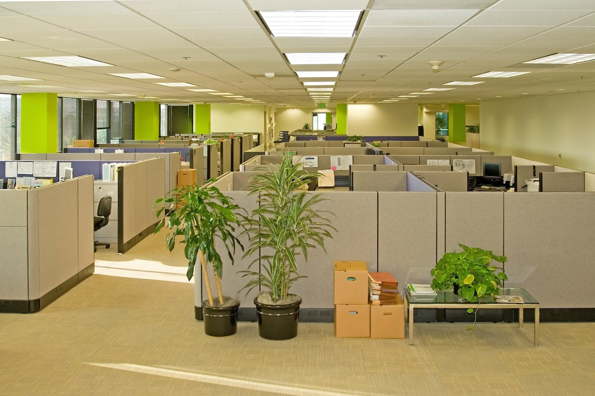 Moving and repairing office cubicles