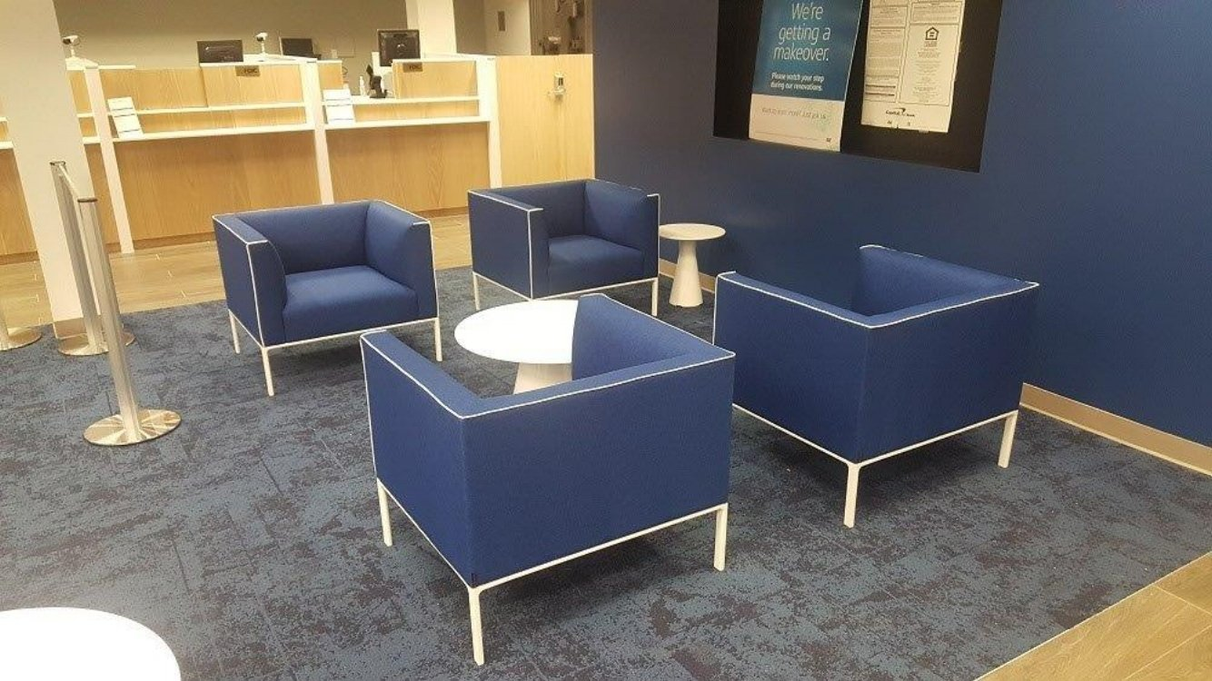 Bank Lobby Furniture Installation